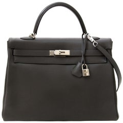 Hermes Kelly 35 Retourne Ardoise Swift PHW