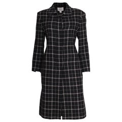A vintage 1980s Oleg Cassini Couture Black and White Coat