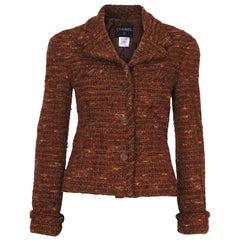 A Vintage 1998 brown tweed Chanel Jacket