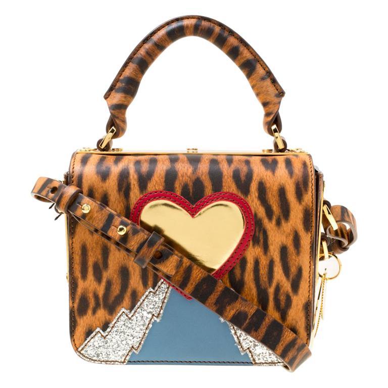 3042409004ffa3 Sophie Hulme Brown/Black Leopard Print Leather Small Finsbury Crossbody Bag  For Sale