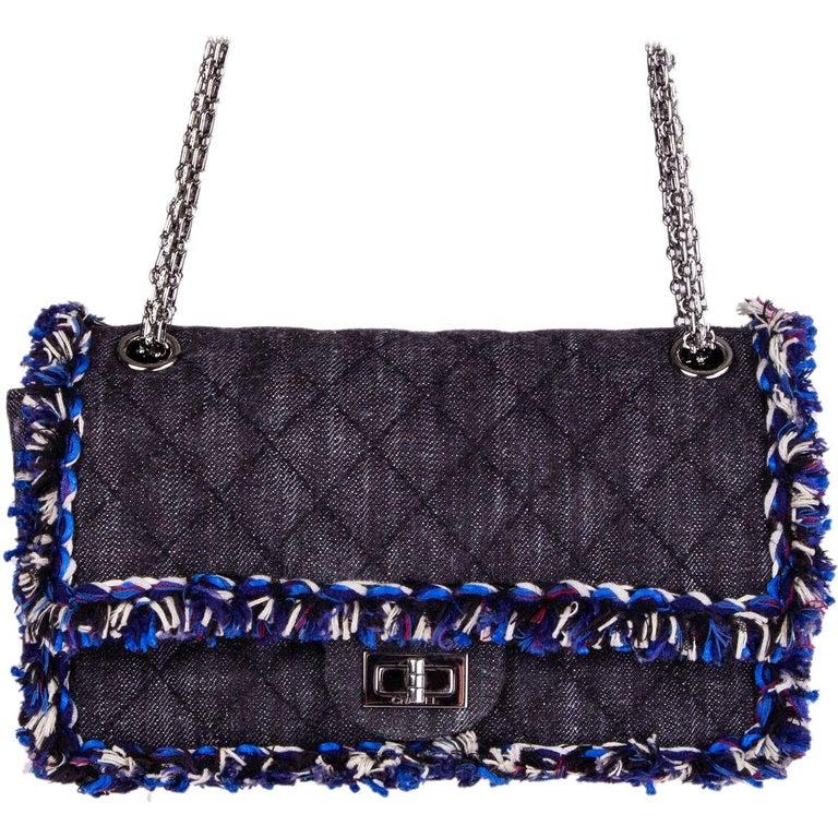 94bf03e22f78d4 Chanel grey DENIM 2.55 REISSUE 225 FLAP Shoulder Bag at 1stdibs