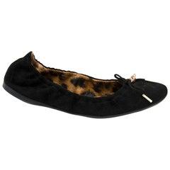 Roberto Cavalli Just Cavalli Black Ballet Flats - Size 38