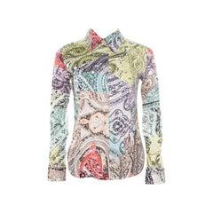 Etro Multicolor Paisley Printed Cotton Long Sleeve Shirt S