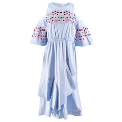Peter Pilotto Sky Blue Midi Dress US 6