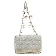 Carolina Herrera Grey Monogram Nylon Shoulder Bag