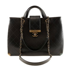 Chanel Black Leather Executive Shopper