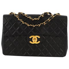 8d90c4e8bbcd Chanel Vintage Classic Single Flap Bag Quilted Lambskin Maxi