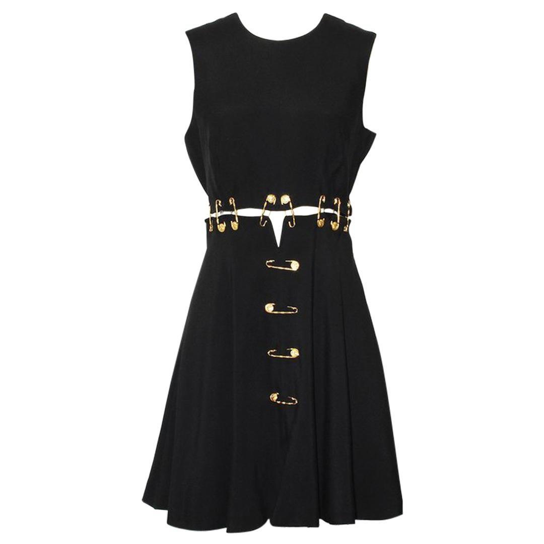 Versace Spring 1994 Safety Pin Mini Dress