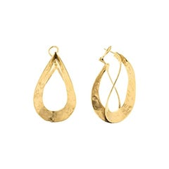 Goossens Paris Sculptural Gold Plate Pierced Earrings