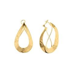 Goossens Paris Sculptural Gold Plate Pierced Earrings