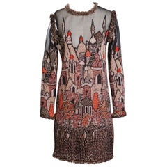 "Chanel Pre-Fall 2009 Paris Moscow Collection ""Minaret"" motif dress"