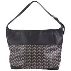 Goyard Grenadine Hobo Coated Canvas with Leather