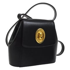 Christian Dior Leather Gold 2 in 1 Small Top Handle Satchel Flap Shoulder Bag
