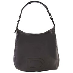 Delvaux Le Louise Grey Patent Leather Bag