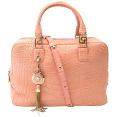 Versace Soft Pink Croco Bag