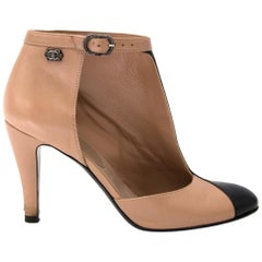 Chanel d'Orsay Half Ankle Boots - Size 38