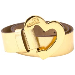 Moschino Gold Heart Belt