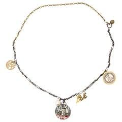 Lanvin Black with Golden Details Necklace