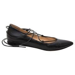 a93e690f0bc GIANVITO ROSSI NEW Black Leather Crystal Gladiator Strappy Sandals ...
