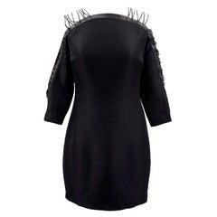 Ralph Lauren Collection black silk lace up dress US 0-2