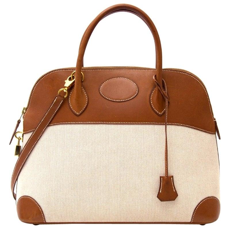 Hermès Bolide Canvas / Barenia Bag 35