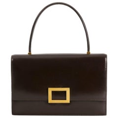 Hermès Brown Leather Top Handle Bag