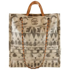 Chanel Iliad Printed Shopper Tote