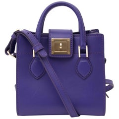 Roberto Cavalli Purple Box Shoulder Bag