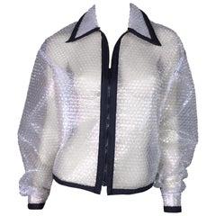 1990's D&G by Dolce & Gabbana Clear Plastic Bubble Wrap Jacket