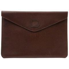 Delvaux Brown Flap Pochette Clutch