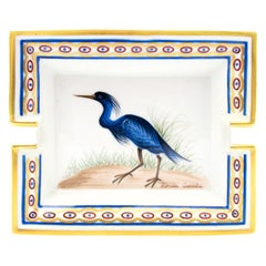 Hermès Ashtray Blue Bird 'Florida Caerulea'