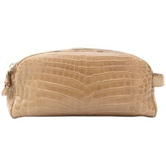 Bottega Veneta Croco Toiletry Case