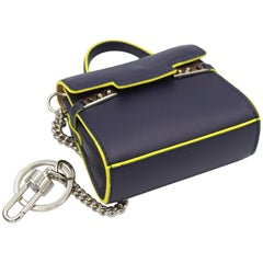 Delvaux Mini Tempete Leather Charm / Keyring