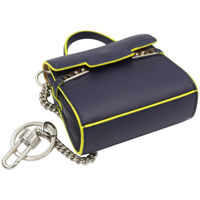 Delvaux Mini Tempete Leather Charm / Keyring For Sale