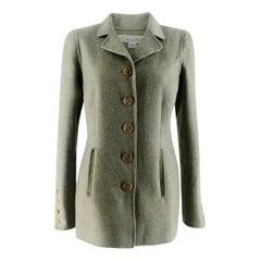 Oscar De La Renta Mint Double-Faced Cashmere Coat - Size US 4