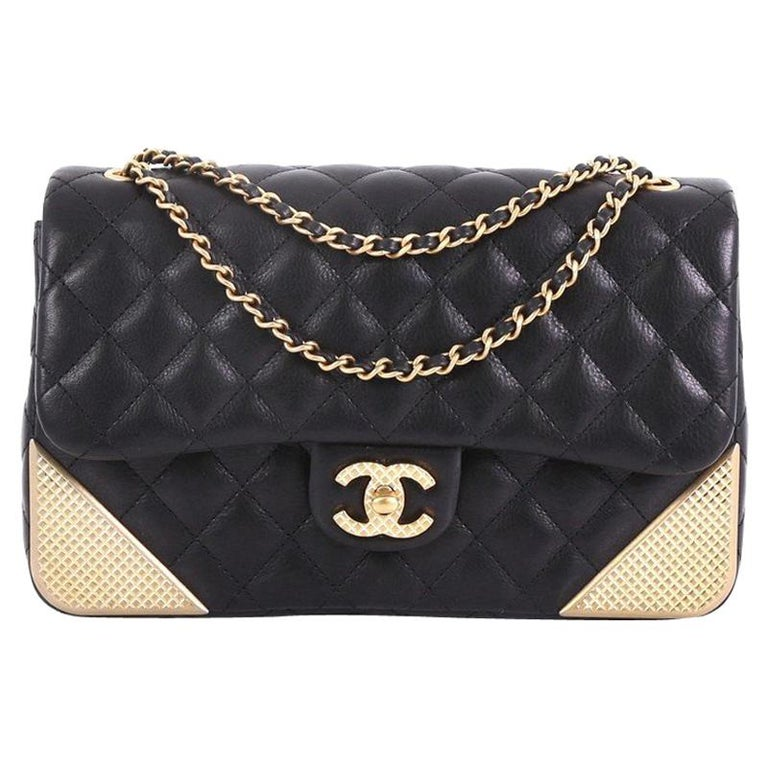 f88d4e9cb67c Chanel Rock the Corner Flap Bag Quilted Leather Medium For Sale at ...