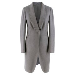 Brunello Cucinelli Grey Wool blend Long Coat US 4