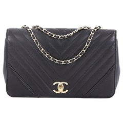 4225295d3baff2 Chanel Statement Flap Bag Chevron Calfskin Small