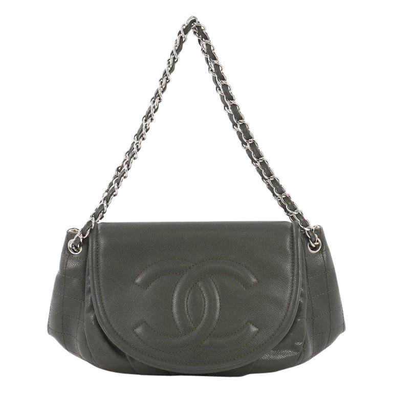 fed0450a8c57 Chanel Timeless Half Moon Flap Bag Caviar Medium at 1stdibs