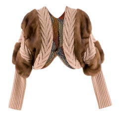 Missoni Fur-trimmed Bolero Jacket US 8