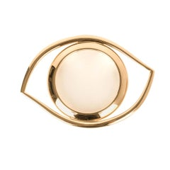 Hermes Eye of Cleopatra Magnifying Glass Golden Brass