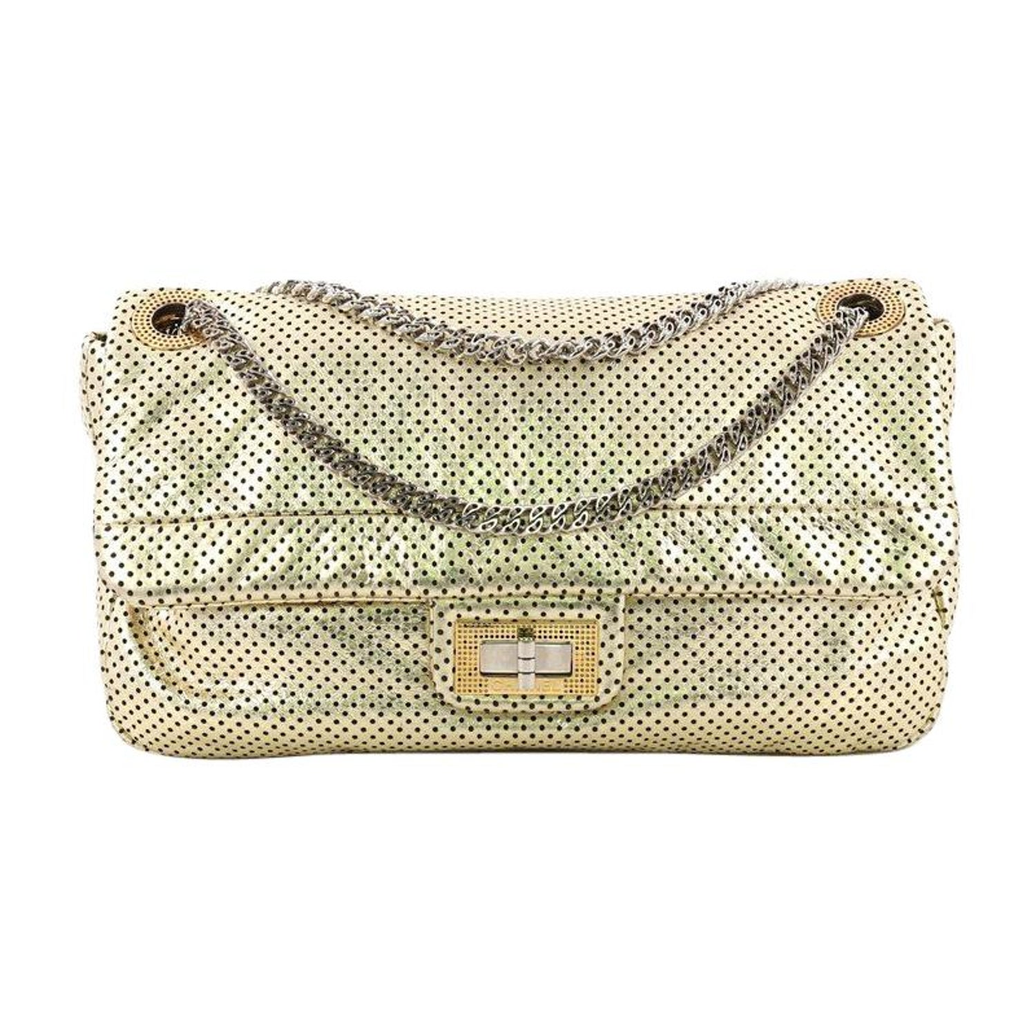 a8bf57776967 Chanel Drill Flap Bag Perforated Leather Medium at 1stdibs