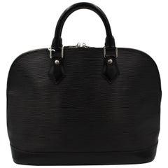 Alma Louis Vuitton Bag in Black Epi Leather