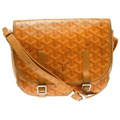 Goyard Yellow Coated Canvas and Leather Crossbody Bag