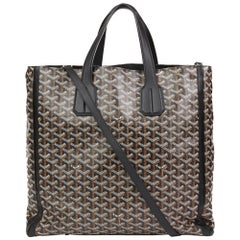 2010 Goyard Black Chevron Coated Canvas Voltaire