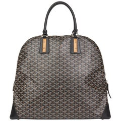 2010 Goyard Black Vendôme Cloth 24h Bag