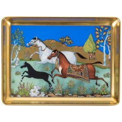 Hermes Tray Cheval D'Orient Porcelain Small Model