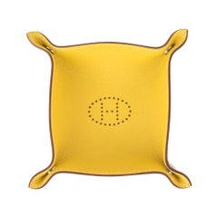 Hermes Change Tray Mises Et Relances Mini Bi-Color Jaune Fauve Mini Model