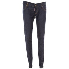 Dsquared2 Indigo Denim Low Waist Straight Fit Jeans M