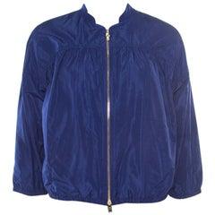 Miu Miu Cobalt Blue Windbreaker Zip Front Jacket S